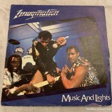 Discos de vinilo: IMAGINATION – MUSIC AND LIGHTS SELLO: CLEMENCE MELODY – 104236 FORMATO: VINYL, 7 , 45 RPM, SINGLE. Lote 173941580
