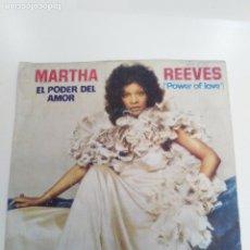 Discos de vinilo: MARTHA REEVES EL PODER DEL AMOR POWER OF LOVE / STAND BY ME ( 1974 MCA RECORDS ESPAÑA ). Lote 173954162