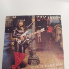 Discos de vinilo: RICK JAMES GIVE IT TO ME BABY / MR. POLICEMAN ( 1981 MOTOWN ESPAÑA ) BUEN ESTADO. Lote 173955584