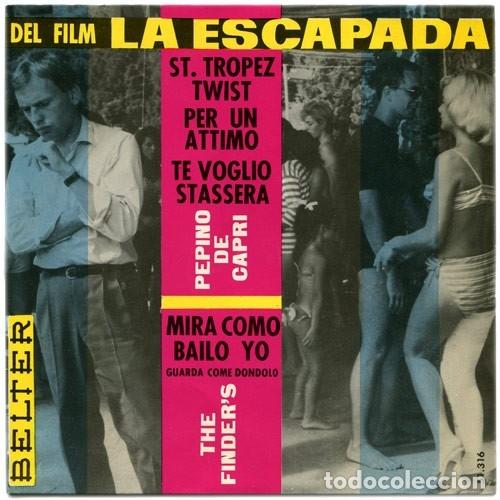 PEPINO DE CAPRI+THE FINDER´S – DEL FILM LA ESCAPADA – EP BELTER SPAIN 1963 (Música - Discos de Vinilo - EPs - Bandas Sonoras y Actores)