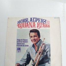 Discos de vinilo: HERB ALPERT AND THE TIJUANA BRASS PULGA DE TIJUANA EL TERCER HOMBRE + 2 ( 1966 A&M ESPAÑA ). Lote 173976857