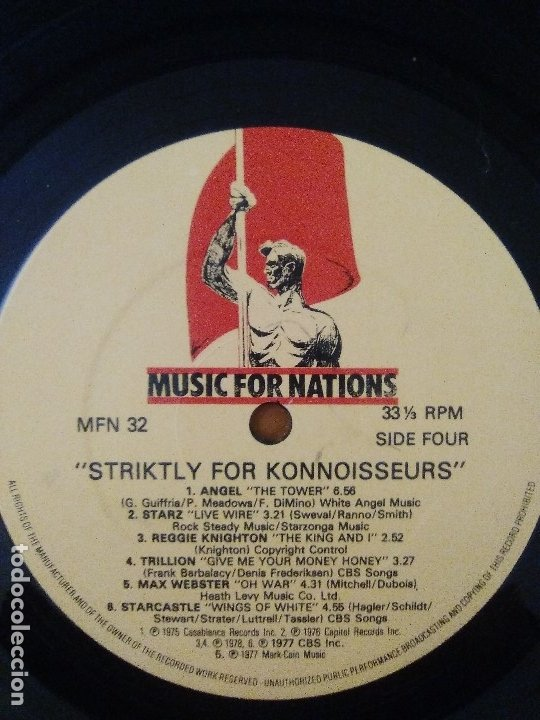 Discos de vinilo: DOBLE LP HEAVY METAL MUSIC FOR NATIONS.striktly for konnoiswseurs.varios.england,1982.ANGEL/STARZ - Foto 10 - 173982214