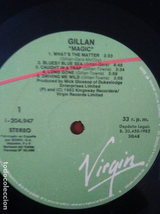 Discos de vinilo: SUPER LOTE. 4 LPS. IAN GILLAN ( DEEP PURPLE ) MAGIC/GLORY ROAD/NAKED THUNDER/FUTURE SHOCK. - Foto 9 - 173983568