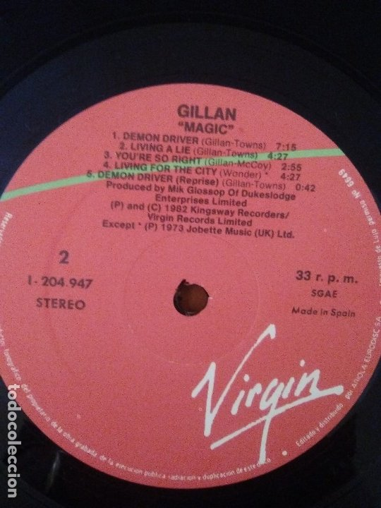 Discos de vinilo: SUPER LOTE. 4 LPS. IAN GILLAN ( DEEP PURPLE ) MAGIC/GLORY ROAD/NAKED THUNDER/FUTURE SHOCK. - Foto 10 - 173983568