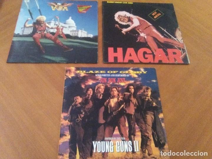 LOTE 3 LPS HEAVY METAL.SAMMY HAGAR/LIVE 1980.BLAZE OF GLORY.JON BON JOVI.SAMMY HAGAR VOA. (Música - Discos - LP Vinilo - Heavy - Metal)