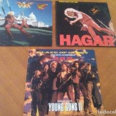 Discos de vinilo: LOTE 3 LPS HEAVY METAL.SAMMY HAGAR/LIVE 1980.BLAZE OF GLORY.JON BON JOVI.SAMMY HAGAR VOA.. Lote 173985193