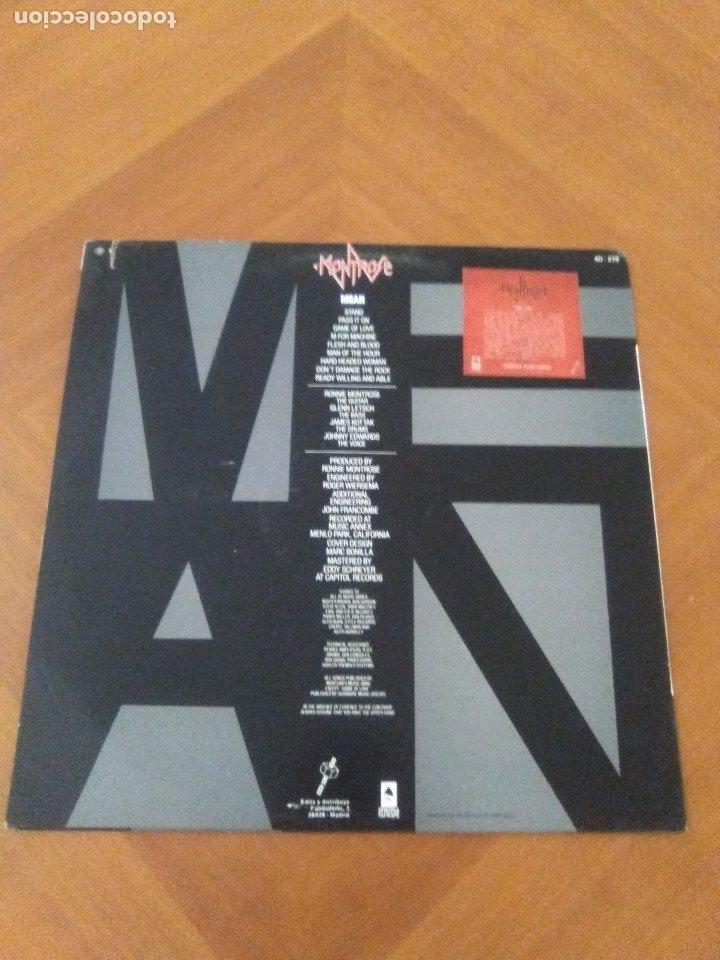 Discos de vinilo: LOTE 3 LPS. RONNIE MONTROSE.THE DIVA STATION. MONTROSE. M. MAHOGANY RUSH. IV. - Foto 12 - 173986303