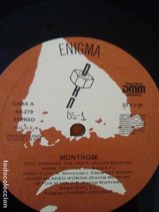 Discos de vinilo: LOTE 3 LPS. RONNIE MONTROSE.THE DIVA STATION. MONTROSE. M. MAHOGANY RUSH. IV. - Foto 14 - 173986303