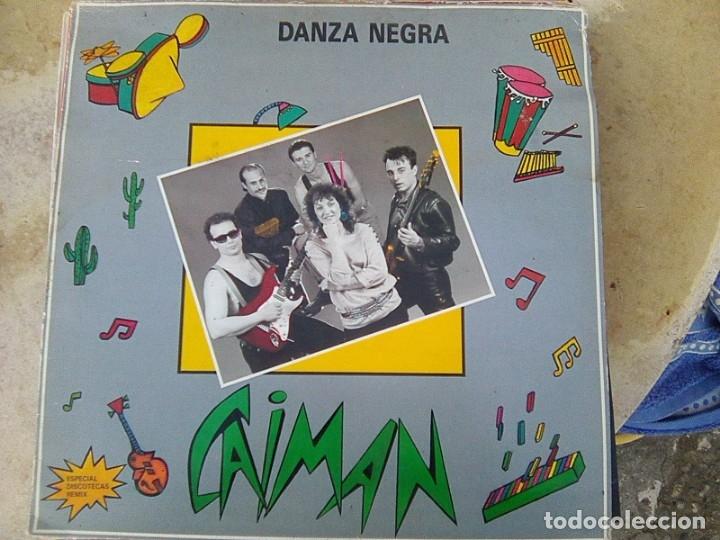 CAIMÁN - DANZA NEGRA (ESTOPI, 1988) - FUSION ETNICA DE BAILE - YA ESCASO (Música - Discos de Vinilo - Maxi Singles - Étnicas y Músicas del Mundo)