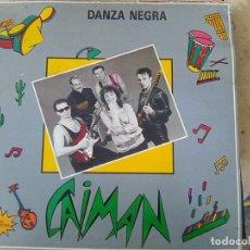 Discos de vinilo: CAIMÁN - DANZA NEGRA (ESTOPI, 1988) - FUSION ETNICA DE BAILE - YA ESCASO. Lote 173986842