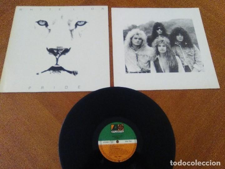 Discos de vinilo: LOTE 3 LPS. ZEBRA/VENOM.CALM BEFORE THE STORM/WHITE LION.PRIDE. - Foto 15 - 173987394