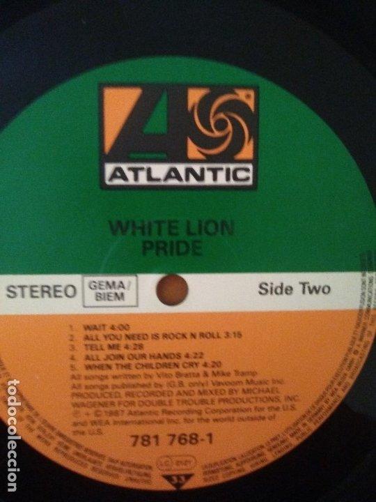 Discos de vinilo: LOTE 3 LPS. ZEBRA/VENOM.CALM BEFORE THE STORM/WHITE LION.PRIDE. - Foto 16 - 173987394