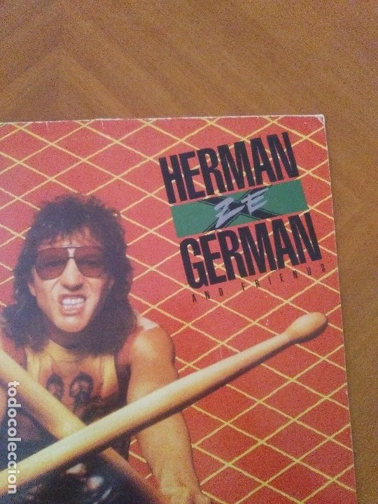 Discos de vinilo: LOTE 3 LPS. HERMAN GERMAN AND FRIENDS(SCORPIONS)./ATOM SEED,GET IN LINE./LEGS DIAMOND.OUT ON BAIL. - Foto 3 - 173988365
