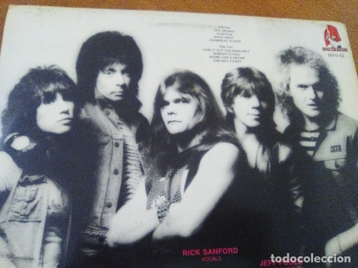 Discos de vinilo: LOTE 3 LPS. HERMAN GERMAN AND FRIENDS(SCORPIONS)./ATOM SEED,GET IN LINE./LEGS DIAMOND.OUT ON BAIL. - Foto 14 - 173988365