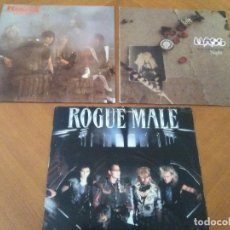 Discos de vinilo: LOTE 3 LPS. WARLOCK.HELLBOUND/ROGUE MALE.ANIMAL MAN/MASS.VOICES IN THE NIGHT.. Lote 173990818