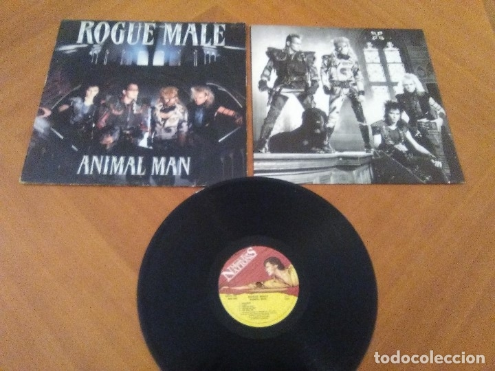 Discos de vinilo: LOTE 3 LPS. WARLOCK.HELLBOUND/ROGUE MALE.ANIMAL MAN/MASS.VOICES IN THE NIGHT. - Foto 17 - 173990818
