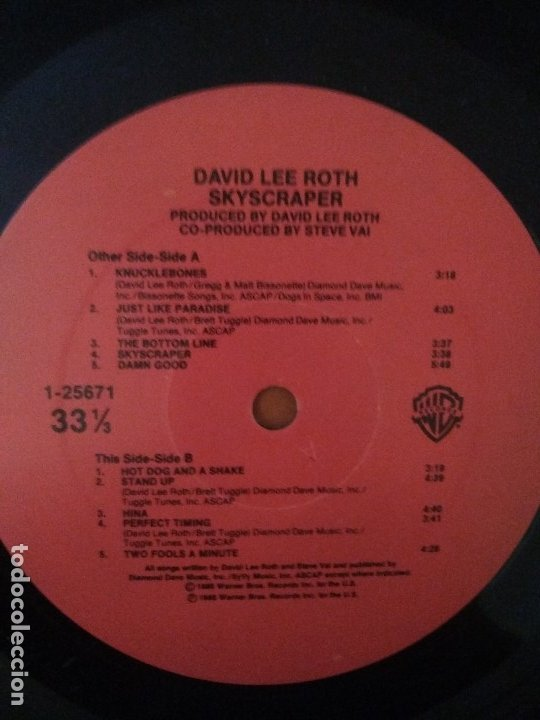 Discos de vinilo: LOTE 3 LPS.JOEY TAFOLLA.Out Of The Sun(JAG PANZER)/KINGDOM COME.IN YOUR FACE/DAVID LEE ROTH.SKYSCRAP - Foto 20 - 173991642