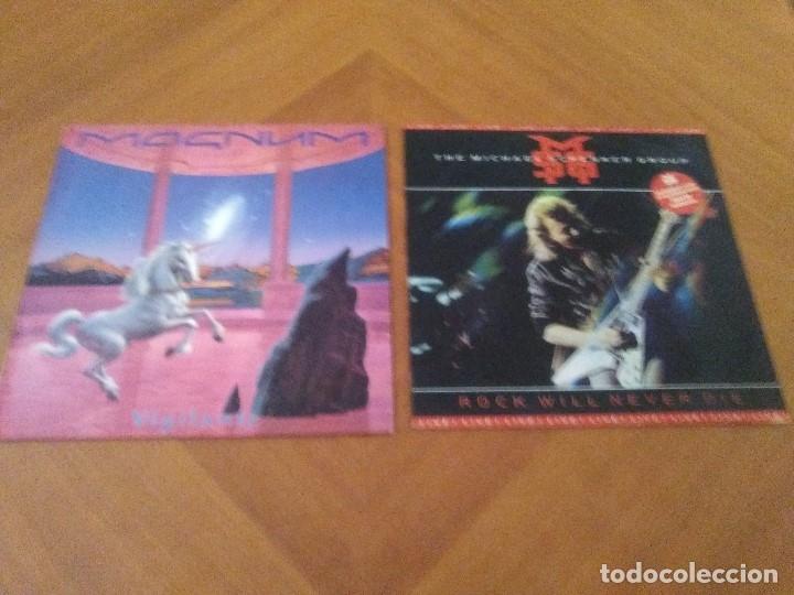 LOTE 2 LPS. THE MICHAEL SCHENKER GROUP.ROCK WILL NEVER DIE/MAGNUM.VIGILANTE. (Música - Discos - LP Vinilo - Heavy - Metal)
