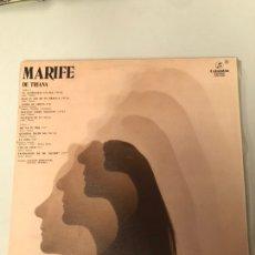 Discos de vinilo: MARIFE DE TRIANA. Lote 173993385