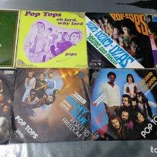 Discos de vinilo: LOS POP-TOPS - LOTE 8 SINGLES. Lote 173997390