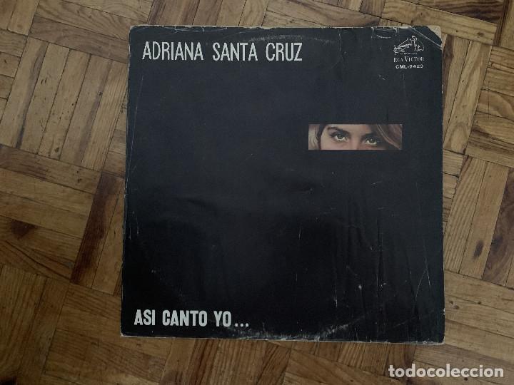 ADRIANA SANTA CRUZ – ASI CANTO YO ... SELLO: RCA VICTOR – CML 2429 FORMATO: VINYL, LP PAÍS: CHILE (Música - Discos - LP Vinilo - Grupos y Solistas de latinoamérica)