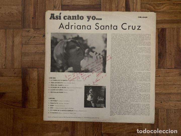 Discos de vinilo: Adriana Santa Cruz – Asi Canto Yo ... Sello: RCA Victor – CML 2429 Formato: Vinyl, LP País: Chile - Foto 2 - 174014944