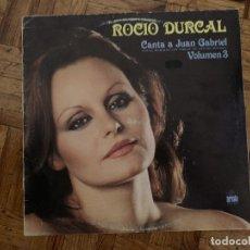 Discos de vinilo: ROCIO DURCAL* – CANTA A JUAN GABRIEL VOLUMEN 3 SELLO: ARIOLA – 200.710-I FORMATO: VINYL, LP, ALBU. Lote 174015168