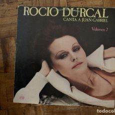 Discos de vinilo: ROCIO DURCAL* – CANTA A JUAN GABRIEL VOLUMEN 2 SELLO: ARIOLA – 26.063-I FORMATO: VINYL, LP, ALBUM. Lote 174015403