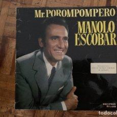 Discos de vinilo: MANOLO ESCOBAR – MR. POROMPOMPERO SELLO: BELTER – 75.005 FORMATO: VINYL, LP, ALBUM, SPECIAL EDITI. Lote 174015553