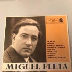 Discos de vinilo: MIGUEL FLETA. Lote 174016310