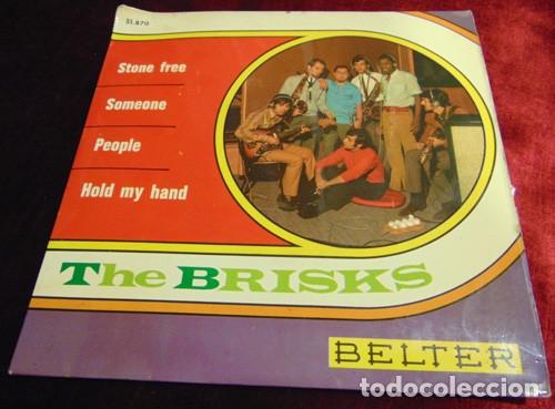 THE BRISKS – STONE FREE + 3 - EP BELTER 1968 (Música - Discos de Vinilo - EPs - Grupos Españoles 50 y 60)