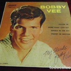 Disques de vinyle: BOBBY VEE - STAYIN' IN + 3 - RARO EP DE1961. Lote 174019373