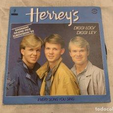 Discos de vinilo: HERREY'S* – DIGGI LOO / DIGGI LEY SELLO: PRODUCTION PAUL LEDERMAN – 106 470, LABEL DU BON INDEPEN. Lote 174019653