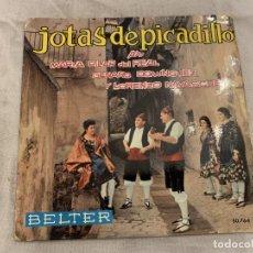 Discos de vinilo: RONDALLA BRETON – JOTAS DE PICADILLO SELLO: BELTER – 50.764 FORMATO: VINYL, 7 , 45 RPM, SINGLE . Lote 174019940
