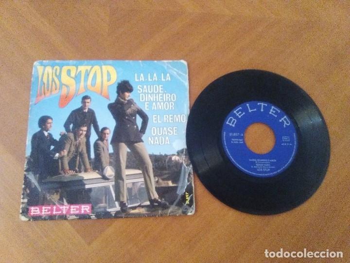 EP RARO/DIFICIL.LOS STOP(CANTA PORTUGUES) LA,LA,LA/EL REMO/QUASE NADA/SAUDE..AÑO1968.BELTER 51.897 (Música - Discos de Vinilo - EPs - Grupos Españoles 50 y 60)