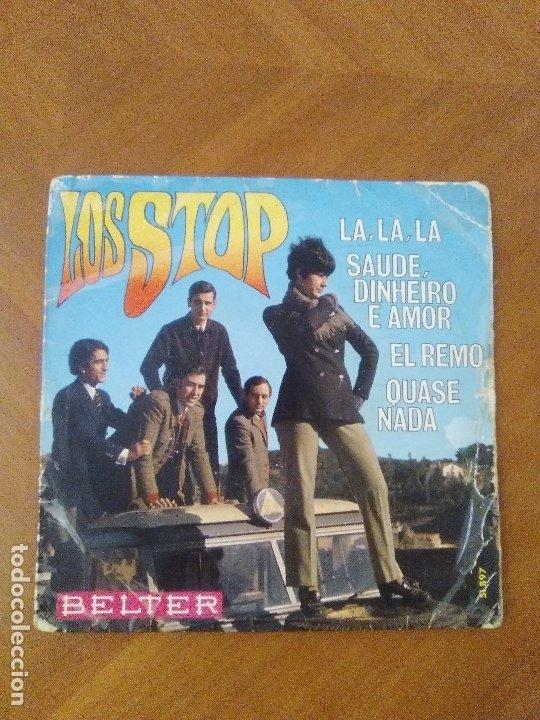 Discos de vinilo: EP RARO/DIFICIL.LOS STOP(CANTA PORTUGUES) LA,LA,LA/EL REMO/QUASE NADA/SAUDE..AÑO1968.BELTER 51.897 - Foto 2 - 174031429