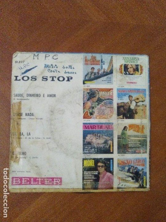 Discos de vinilo: EP RARO/DIFICIL.LOS STOP(CANTA PORTUGUES) LA,LA,LA/EL REMO/QUASE NADA/SAUDE..AÑO1968.BELTER 51.897 - Foto 3 - 174031429