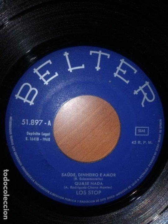 Discos de vinilo: EP RARO/DIFICIL.LOS STOP(CANTA PORTUGUES) LA,LA,LA/EL REMO/QUASE NADA/SAUDE..AÑO1968.BELTER 51.897 - Foto 4 - 174031429