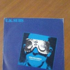 Discos de vinilo: MUY RARO. SINGLE U.K. SUBS // STRANGLEHOLD - INMOVILIZADO // SPAIN.AÑO 1979.RCA PB 9404.. Lote 174032405