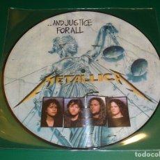 Discos de vinilo: METALLICA AND JUSTICE FOR ALL PICTURE DISC. Lote 174036572
