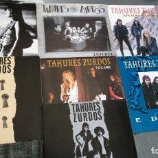 Discos de vinilo: TAHURES ZURDOS - LOTE 7 SINGLES EN PERFECTO ESTADO . Lote 174037235
