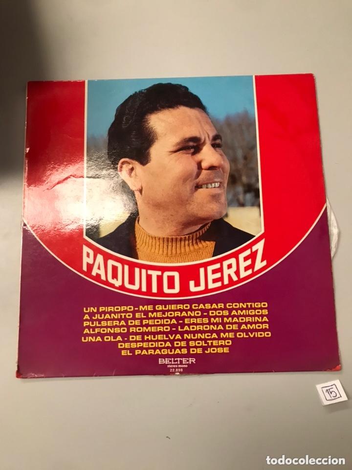 PAQUITO JEREZ (Música - Discos de Vinilo - Maxi Singles - Flamenco, Canción española y Cuplé)
