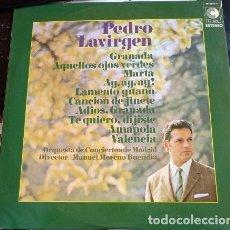 Discos de vinilo: PEDRO LAVIRGEN. EXITOS DE SIEMPRE LP.. Lote 173748058