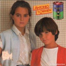 Discos de vinilo: ANTONIO Y CARMEN - SOPA DE AMOR / SINGLE DE 1982 RF-4041 . Lote 174050473