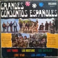 Discos de vinilo: TONKS; MUSTANG, SALVAJES, LONE STAR, JAVALOYAS. GRANDES CONJUNTOS ESPAÑOLES. ORLADOR, 1968 LP 10''. Lote 174055800