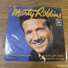 Discos de vinilo: MARTY ROBBINS - EL ARBOL DEL AHORCADO (7'', EP) . Lote 174055964