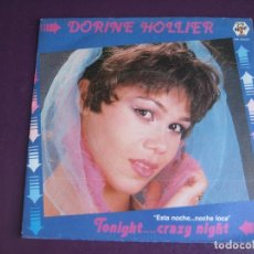 Discos de vinilo: DORINE HOLLIER SG BABY RECORDS 1984 - TONIGHT...CRAZY NIGHT +1 ITALODISCO 80'S - ITALIA DISCO. Lote 174061248