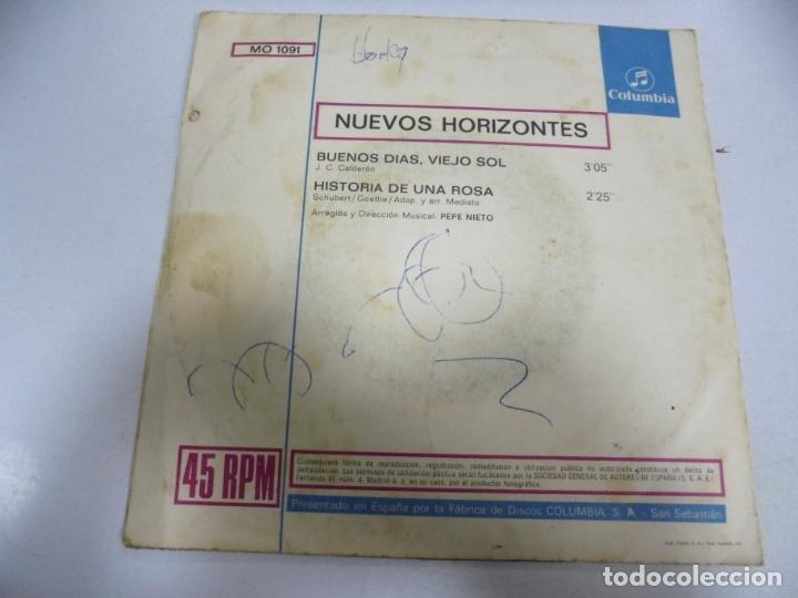 Discos de vinilo: SINGLE. NUEVOS HORIZONTES. BUENOS DIAS, VIEJO SOL / HISTORIA DE UNA ROSA. 1971 - Foto 2 - 174064399