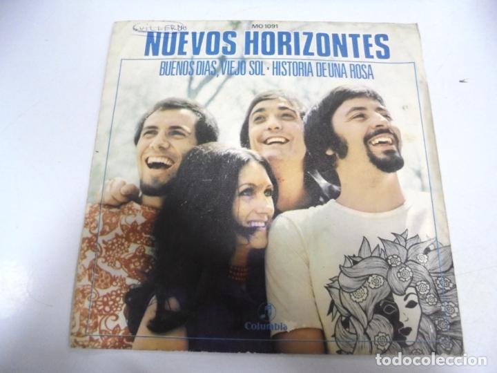 SINGLE. NUEVOS HORIZONTES. BUENOS DIAS, VIEJO SOL / HISTORIA DE UNA ROSA. 1971 (Música - Discos - Singles Vinilo - Grupos Españoles de los 70 y 80)