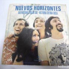 Discos de vinilo: SINGLE. NUEVOS HORIZONTES. BUENOS DIAS, VIEJO SOL / HISTORIA DE UNA ROSA. 1971. Lote 174064399